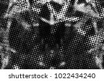 grunge black and white circles... | Shutterstock . vector #1022434240