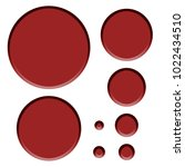 dark red plastic style set of... | Shutterstock . vector #1022434510