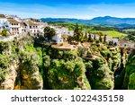 ronda  spain  landscape of...   Shutterstock . vector #1022435158