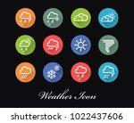 set of vector weather forecast...   Shutterstock .eps vector #1022437606
