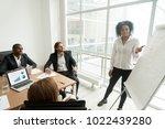 african businesswoman giving... | Shutterstock . vector #1022439280