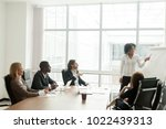 african american businesswoman... | Shutterstock . vector #1022439313
