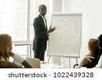 confident african speaker gives ...   Shutterstock . vector #1022439328