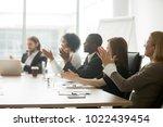 multiracial business people... | Shutterstock . vector #1022439454