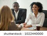 african american hr team... | Shutterstock . vector #1022440000
