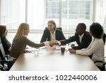 african businessman and... | Shutterstock . vector #1022440006