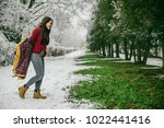woman undressing when see that... | Shutterstock . vector #1022441416