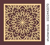 laser cutting panel. golden... | Shutterstock .eps vector #1022442070