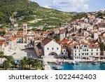 hvar island  dalmatia  croatia. ... | Shutterstock . vector #1022442403