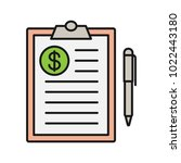 business contract color icon.... | Shutterstock .eps vector #1022443180