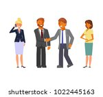 business team. cartoon flat... | Shutterstock . vector #1022445163