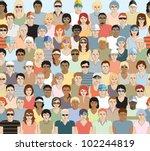 crowd of sports spectators.... | Shutterstock .eps vector #102244819