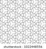 seamless ornamental vector... | Shutterstock .eps vector #1022448556