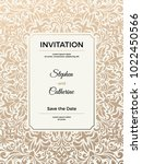 vintage wedding invitation... | Shutterstock .eps vector #1022450566
