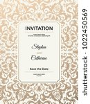 vintage wedding invitation... | Shutterstock .eps vector #1022450569