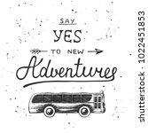 travel hand drawn unique... | Shutterstock . vector #1022451853
