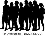 group of people. crowd of... | Shutterstock .eps vector #1022453770