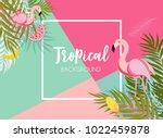 cute summer abstract frame...   Shutterstock .eps vector #1022459878