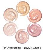 samples of foundation for face. ...   Shutterstock . vector #1022462056