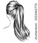 illustration of beauty woman... | Shutterstock .eps vector #1022462773