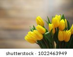 A Bouquet Of Yellow Tulips In ...
