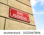 bad address   signboard on the... | Shutterstock . vector #1022467846