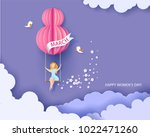 card for 8 march womens day.... | Shutterstock .eps vector #1022471260