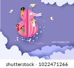 card for 8 march womens day.... | Shutterstock .eps vector #1022471266