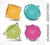 flat  promotion stickers  ... | Shutterstock .eps vector #1022471503
