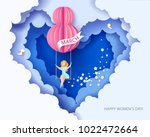 card for 8 march womens day.... | Shutterstock .eps vector #1022472664