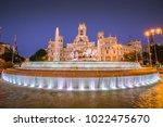 plaza de la cibeles  cybele's... | Shutterstock . vector #1022475670