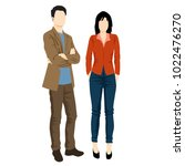 man and woman standing. people... | Shutterstock .eps vector #1022476270