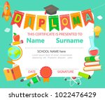 sample diploma and certificate... | Shutterstock . vector #1022476429