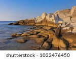aegean seashore and marble... | Shutterstock . vector #1022476450