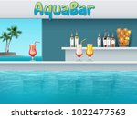 vector illustration of aqua bar ... | Shutterstock .eps vector #1022477563