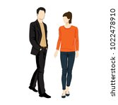 man and woman standing. people... | Shutterstock .eps vector #1022478910