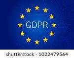 gdpr   general data protection... | Shutterstock .eps vector #1022479564