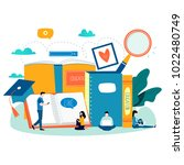 education  online training... | Shutterstock .eps vector #1022480749
