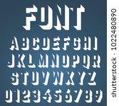 alphabet font template. set of... | Shutterstock .eps vector #1022480890