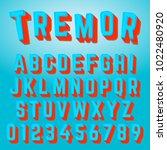 alphabet font template. set of... | Shutterstock .eps vector #1022480920