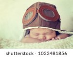 sweet little baby dreaming of... | Shutterstock . vector #1022481856