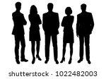 set of business people  vector... | Shutterstock .eps vector #1022482003