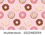 seamless pattern with glazed... | Shutterstock .eps vector #1022482054