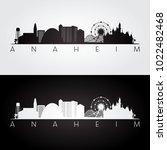 anaheim usa skyline and... | Shutterstock .eps vector #1022482468