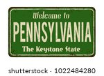Welcome To Pennsylvania Vintag...