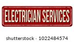 electrician services vintage... | Shutterstock .eps vector #1022484574
