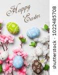happy easter card    Shutterstock . vector #1022485708