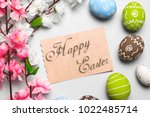 happy easter card  | Shutterstock . vector #1022485714