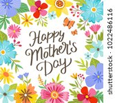 mother's day greeting card.... | Shutterstock .eps vector #1022486116