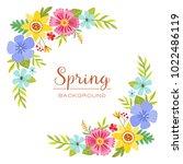 colorful spring floral design... | Shutterstock .eps vector #1022486119